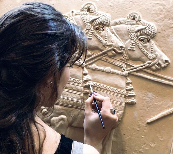 Assyrian Lion Hunt Commission Kate Ive