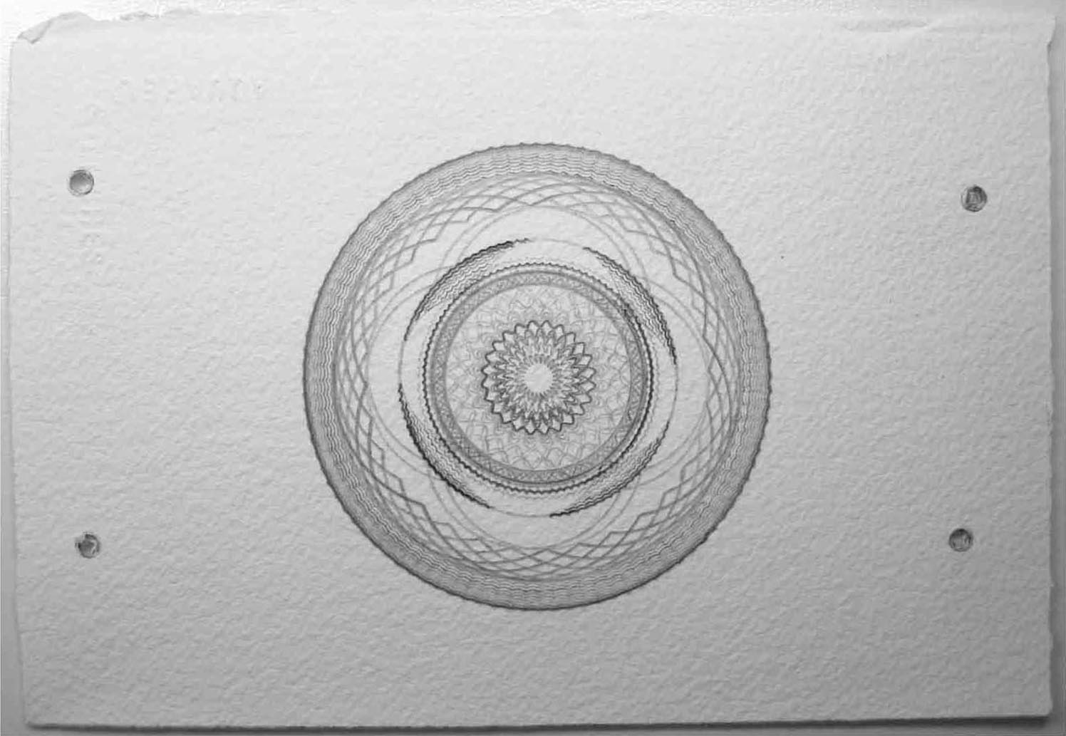 Handmade Geometric Drawing on Paper Kate Ive