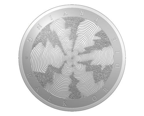 Struck art medal Kate Ive sculpture computer render Royal Mint
