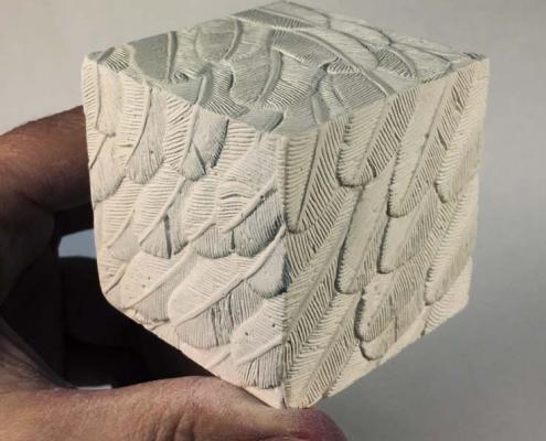 Kate Ive West Calder High School Artwork sculpture plaster cubes