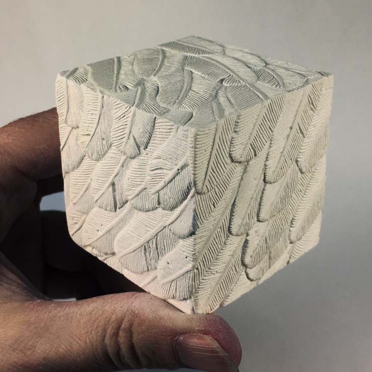 Kate Ive West Calder High School Artwork sculpture plaster cubes
