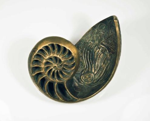 Handmade Bronze Shell Sculpture Kate Ive