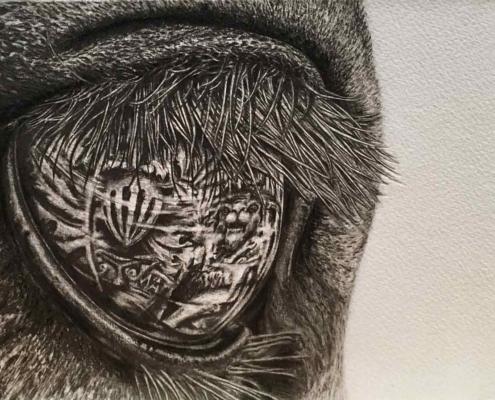 Handmade Tonal Charity Drawing Kate Ive art